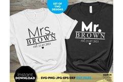 Wedding sign svg file, Mr and Mrs SVG, wedding shirt svg Product Image 1