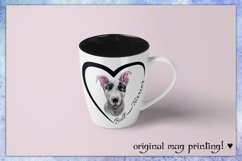 Bull Terrier dog watercolor sublimation design PNG/JPG Files Product Image 2