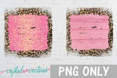 Sublimation Brick Wood Glitter Leopard Bundle Sublimation Product Image 3