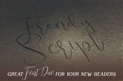 Trendy Script Font Duo Product Image 4