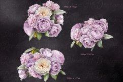 Lilac roses bouquets clipart. Floral arrangements. Product Image 2