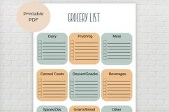 Grocery List Printable Product Image 4