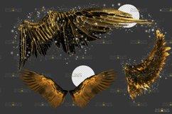 Golden Angel Wing overlay & Photoshop overlay Product Image 2