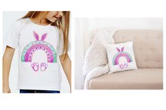 Easter Bunny sublimation,Rainbow Easter Sublimation,Rainbow Product Image 3
