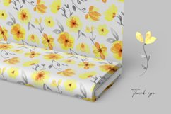 Yellow floral watercolor seamless pattern / digital paper Product Image 3