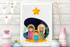 Nativity Clipart, religious illustration, Bible graphics Product Image 2