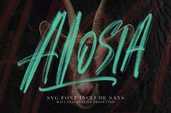 Alosia SVG Brush Font Free Sans Product Image 1