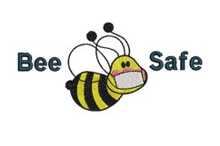 Bee Safe Embroidery Design Product Image 3
