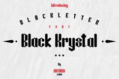 Black Krystal Font Product Image 1