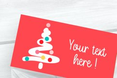 Foldable Cards Christmas Tree Editable PDF Word Docx PNG Product Image 3