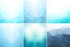 Blue abstract geometric backgrounds. Product Image 1