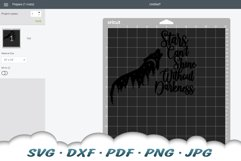 Stars Can't Shine Without Darkness Wolf SVG DXF Cut Files Product Image 4