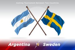 Argentina vs Sweden Two Flags Product Image 1