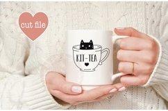 Cat svg, Tea svg, Kit-tea svg, teacup svg Product Image 2