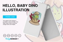 Hello, Baby Dino Vector Illustration Product Image 3