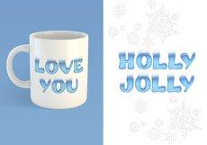 Holiday Season - ice font Product Image 2