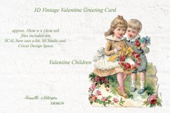 Pop out 3D Vintage Valentine print cut and foil sketch greet Product Image 3