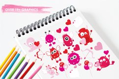 Valentine Monsters graphics and illustrations Product Image 3
