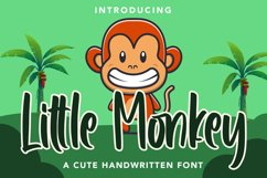 Little Monkey - Cute Font Product Image 1