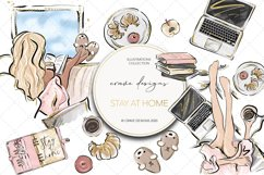 Stay At Home Clip Art Product Image 1