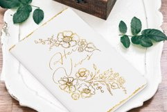 Black and Gold Watercolor Flower Illustrations and Textures Product Image 6