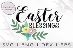 Easter SVG, Easter Blessings SVG, Cricut Cut Files Product Image 1