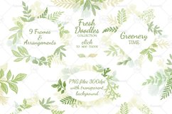 Leaves Branches & Herbs frames. Fresh Doodle collection Product Image 1