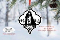 Arabesque Christmas SVG  Mr. & Mrs Wedding arabesque svg png Product Image 1
