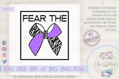 Fear the Bow Cheerleader SVG DXF Cut File LL085F Product Image 1