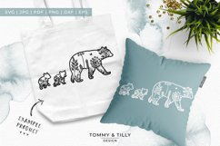 Mama Bear Meadow Animal - Papercut Template SVG EPS DXF P Product Image 3