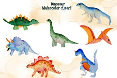 Watercolor Dinosaur Clipart Product Image 2