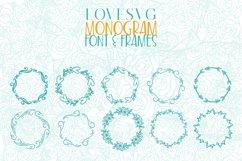 LoveSVG Monogram Font and Frames Product Image 4
