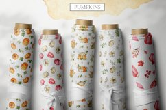 Watercolor Pumpkins. Clipart, cards, seamless patterns Product Image 3