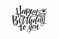 Happy Birthday SVG. Birthday cupcake Svg Cut Files Product Image 2