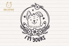 Valentine Dog svg , Puppy with floral decor Svg Product Image 2