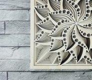 Layered Mandala SVG, Laser cut file, Cricut Mandala, Flower Product Image 4