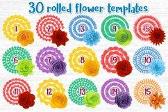 Paper Flower svg, 3d flower svg, Rolled Flower svg file, Product Image 2