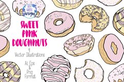 Sweet Pink Doughnuts Product Image 1
