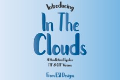 In The Clouds Font Product Image 1
