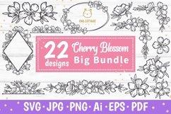 Cherry Blossom Big BUNDLE SVG, Spring FloralSVG Collection Product Image 1