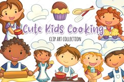 Cute Kids Cooking Illustrations Product Image 1