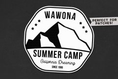 Summer Camp Logo Template, Retro California Badge SVG File Product Image 2