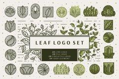 Line Leaf Logo Design / Leaf Svg / Plant Svg Product Image 1