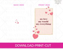 My love world everything Card E card,Card Instant Download Product Image 5