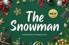 Snowman - Handwritten Fun Font Product Image 1