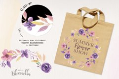 Lilac Frames Watercolor Floral Border Flowers Summer Product Image 2