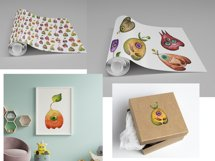 Watercolor collection Eye fruits Product Image 4