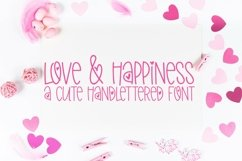 Web Font Love & Happiness - A Valentine's Day Hand-Lettered Product Image 1