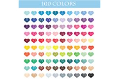 100 Banners flag with heart clipart, Banners Scrapbooking Product Image 2