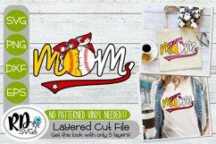 Baseball Softball Mom - A Camo Layered Sports SVG Product Image 1